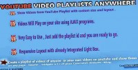 Playlists youtube addon concrete5 anywhere