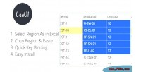 Datagrid easyui region select