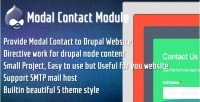 Contact modal for drupal