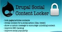 Content social drupal for locker