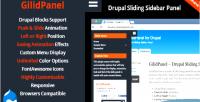 Drupal gilidpanel slide module sidebar out