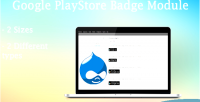 Google drupal shortcode badge playstore