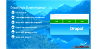 Media drupal screenshot plugin