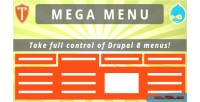 Menu mega 8 drupal for