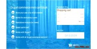 Mini commerce cart block
