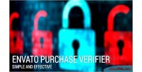 Purchase envato register on verifier