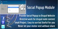 Social drupal popup