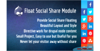 Social floating drupal for share