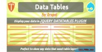Tables data for drupal