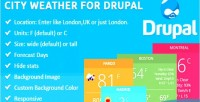 Weather city for drupal
