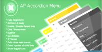 Accordion ap module joomla menu