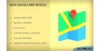 Google geek map module