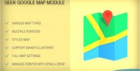 Google geek map module