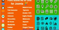 Icons font joomla for aio