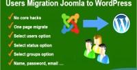 Migration users wordpress to joomla