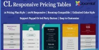Responsive cl pricing table