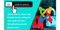 Security slidetounlock for joomla