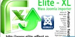 Elite xl joomla 3x importer content mass