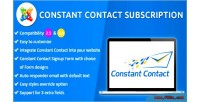 Constant joomla contact subscription
