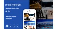 Contents metro extensions joomla responsive