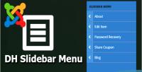 Dh slidebar menu slide menu push and