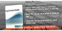 Donation paypal module