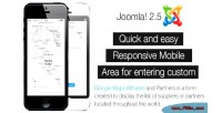 Joomla component affiliates maps google