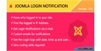 Login joomla notification