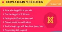 Login joomla notification