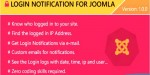 Notification login for joomla
