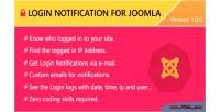 Notification login for joomla
