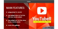 Unique video gallery plugin youtuber joomla for unique