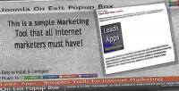 On joomla box popup exit
