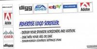 Logo advertise scroller