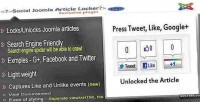Content article locker plugin joomla social