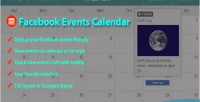 Events facebook joomla for calendar