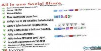 All in one social plugin joomla share
