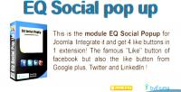 Social eq popup