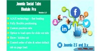 Social joomla pro module tabs