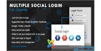 Social multiple joomla for login
