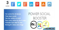 Social power joomla for booster