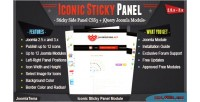 Sticky iconic panel module
