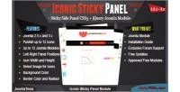 Sticky iconic panel module
