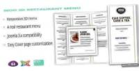 Noo 3d responsive restaurant menu real menu