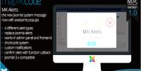 Alerts alerts & popup joomla for messages alerts