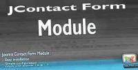 Form jcontact module