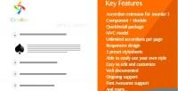 Responsive iccordion accordion 3 joomla for