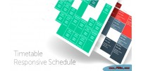 Responsive timetable joomla for schedule