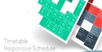 Responsive timetable joomla for schedule