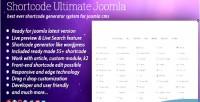 Ultimate shortcode joomla for plugin